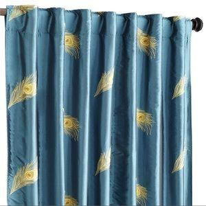 "96"" Pier 1 Peacock Curtain Panels"